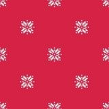 Снежинки vector безшовная картина Стоковое Изображение RF