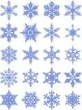 9 снежинок деталей иконы собрания Форма вектора Стоковые Фото