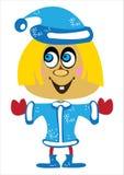 Снежк-девушка девушки вектора на белизне Стоковое Изображение RF
