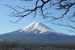 Снежк-покрытое Mount Fuji Стоковое Изображение