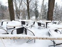 снежное кафе в природе Стоковое фото RF