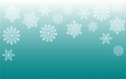 снежное предпосылки голубое Стоковые Изображения