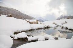 Снежное река стоковые фотографии rf