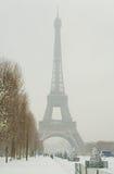 снежное paris дня редкое Стоковое Изображение RF