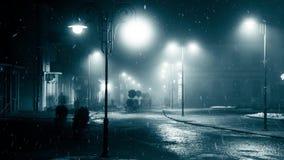 Снежности в городе ночи акции видеоматериалы