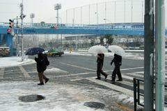 снежности города Стоковая Фотография
