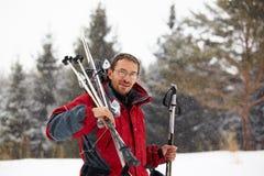 снежности лыжника портрета Стоковое Изображение