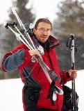 снежности лыжника портрета Стоковая Фотография