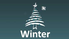 Снежности рождественской елки и зимы бесплатная иллюстрация