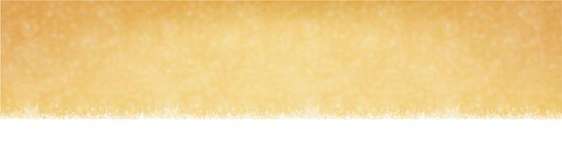 Снежности рождество и предпосылка зимы Нового Года золотая иллюстрация штока