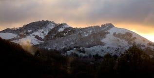 снежный восход солнца стоковое изображение