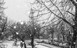снежный день стоковое изображение rf