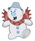 Снежный ком рождества шарж Стоковое Изображение