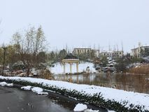 Снежный путь стоковые изображения rf