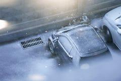 снежок автомобиля вниз Стоковые Фотографии RF