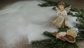 снежок ангела близкий вверх Стоковая Фотография