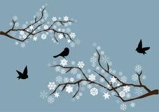 снежок ветвей иллюстрация вектора