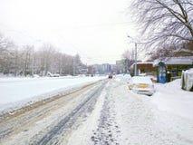 Снежок в Бухарест Стоковые Фотографии RF