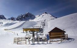 Снежок в горах Стоковое Фото