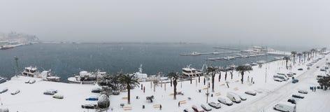 Снежок в городе Стоковые Изображения RF