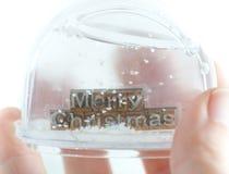 снежок глобуса рождества веселый Стоковая Фотография