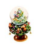 снежок глобуса рождества Стоковое фото RF