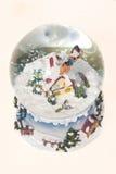 снежок глобуса рождества Стоковая Фотография RF
