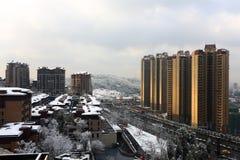 снежок города вниз Стоковое Фото