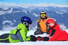 снежок горы детей стоковые изображения