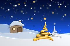 снежок горы дома Стоковая Фотография