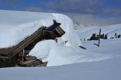 снежок горы кабины вниз Стоковые Изображения