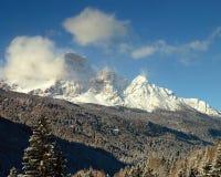 снежок горы ландшафта Стоковое фото RF