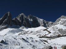 снежок горы нефрита дракона Стоковое Изображение RF