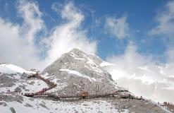 снежок горы нефрита дракона Стоковая Фотография