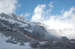 снежок горы нефрита дракона Стоковые Изображения