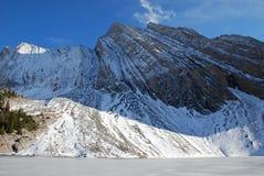снежок горы озера Стоковые Изображения