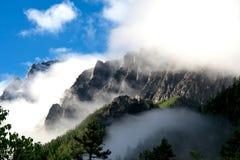 снежок горы тумана Стоковые Изображения