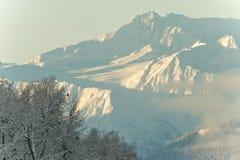 снежок гор Аляски Стоковая Фотография