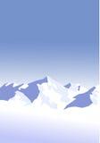 снежок гор предпосылки Стоковые Фотографии RF