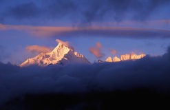 снежок гор meili стоковое изображение