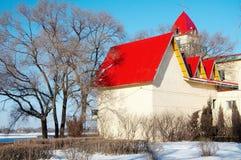 снежок дома стоковая фотография rf