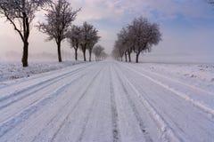 снежок дороги стоковое фото