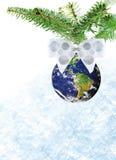 снежок земли рождества Стоковое Фото