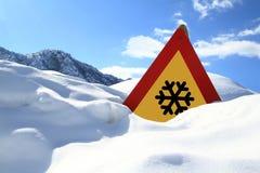снежок знака Стоковые Изображения RF