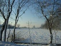 снежок и облака Стоковое Изображение RF