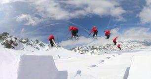 снежок катания на лыжах парка Стоковые Фото