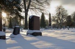 снежок кладбища Стоковое Изображение RF