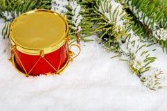 снежок красного цвета золота барабанчика Стоковая Фотография RF
