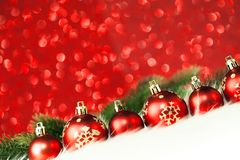 снежок красного цвета рождества шариков Стоковое Изображение RF