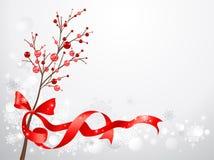 снежок красного цвета рождества ягод предпосылки иллюстрация вектора